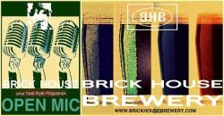 Brick House Brewery weekly open mic, run by Kyle Fitzpatrick